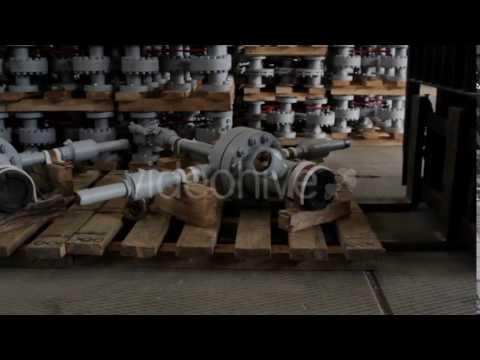Loader Brought Wellhead Christmas Tree - Stock Footage   VideoHive 14681721