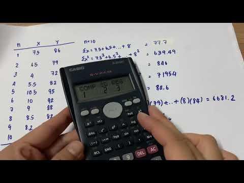 เครื่องคิดเลขโหมด. Simple regression