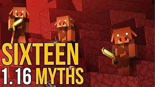 Minecraft 1.16 Sixteen Nether Update Myths [Minecraft Myth Busting 128]