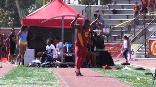 Adoree' Jackson long jump highlights vs. UCLA at dual meet
