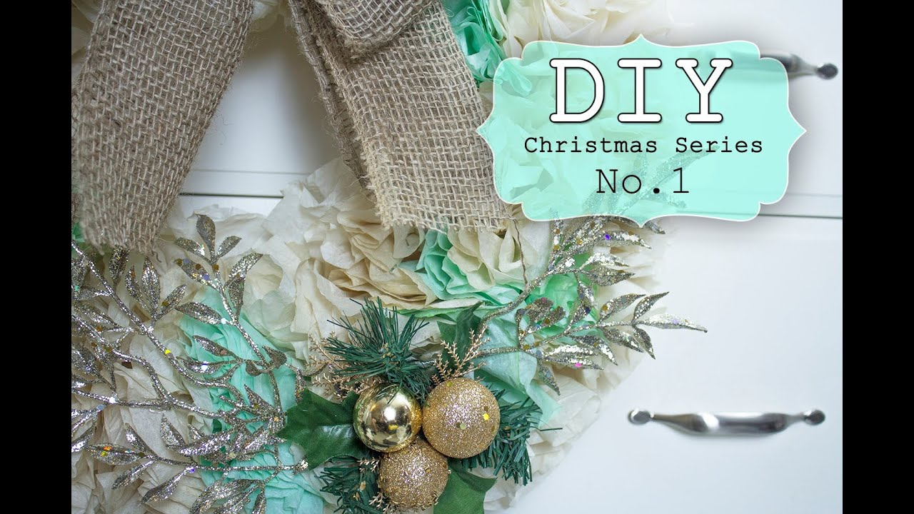 DIY Coffee Filter WreathHoliday DecorYouTube