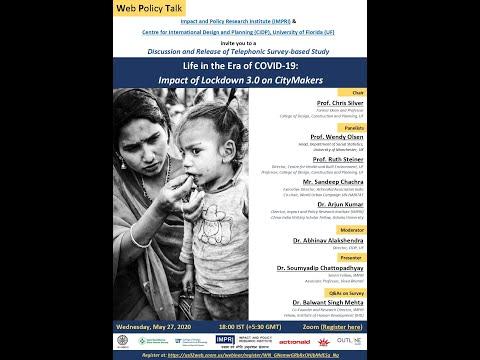 IMPRI CIDP UF Web Policy Talk Life in the Era of COVID 19 Impact Lockdown CityMakers 27 May 2020