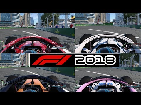 F1 2018 Baku Top Speed Test - WHICH CAR IS THE FASTEST? (POST DAY 1 PATCH)