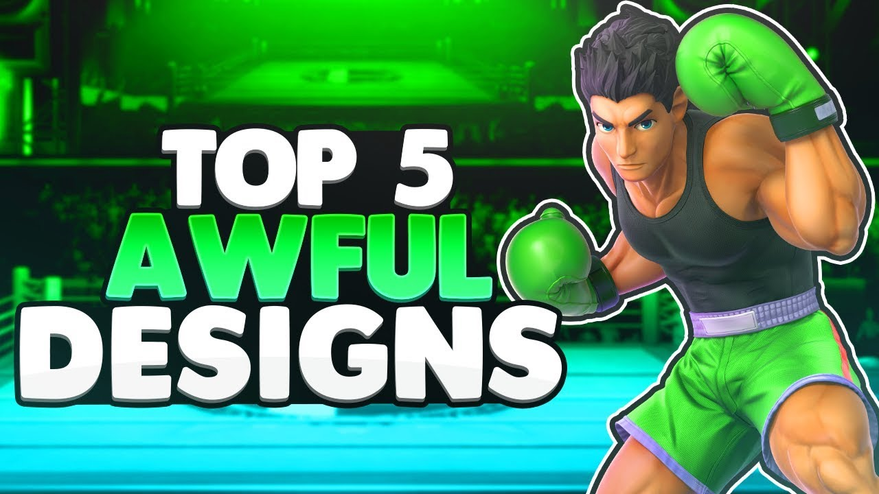 Top 5 Awfully Designed Characters | Super Smash Bros. Ultimate thumbnail