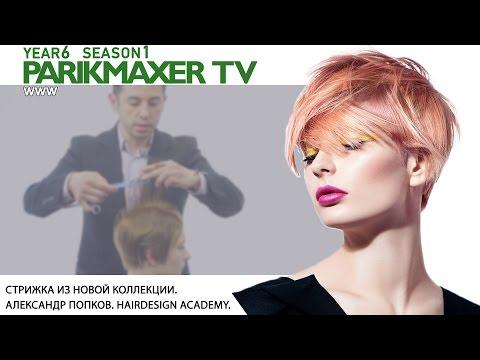 Стрижка из новой коллекции. Александр Попков.  Hairdesign Academy. Парикмахер тв