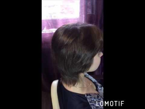 Наращивание на короткие волосы.