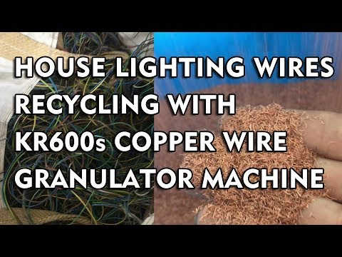 Copper Wire Recycling Plant In Singapore With KR600s Copper wire granulator machine