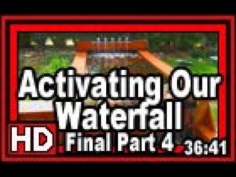Activating Our Waterfall Final Part 4  - Wisconsin Garden Video Blog 825