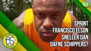 Oud-basketballer Francisco Elson loopt 100m tegen Dafne Schippers!
