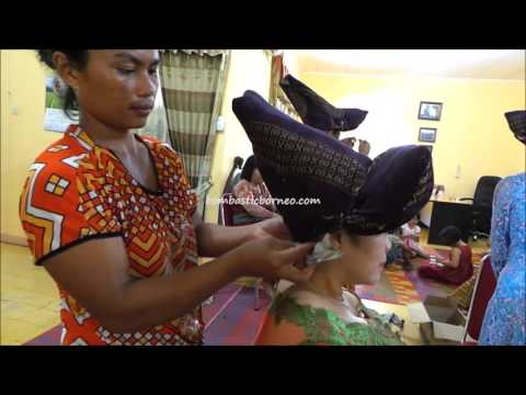 Preparation For Wearing Batak Karo Headgear, Indonesia