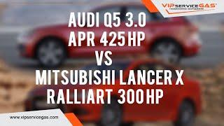 Audi Q5 3.0 TFSI APR 425 hp VS Mitsubishi Lancer X Ralliart 2.0 Turbo 300 hp. Установка гбо на авто.