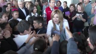 Entrega Gobernadora tejabán a Primaria 6 de Abril en Caborca