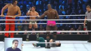 WWE Great Khali team & Tyson team vs Titus team & Epico Team 2012.12.14