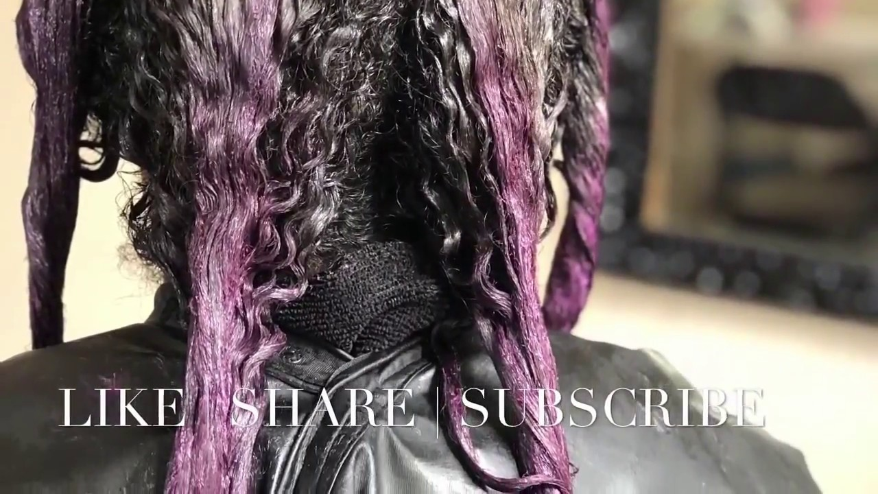 Pulp Riot Velvet Natural Hair Color Service Purple Toya Rey
