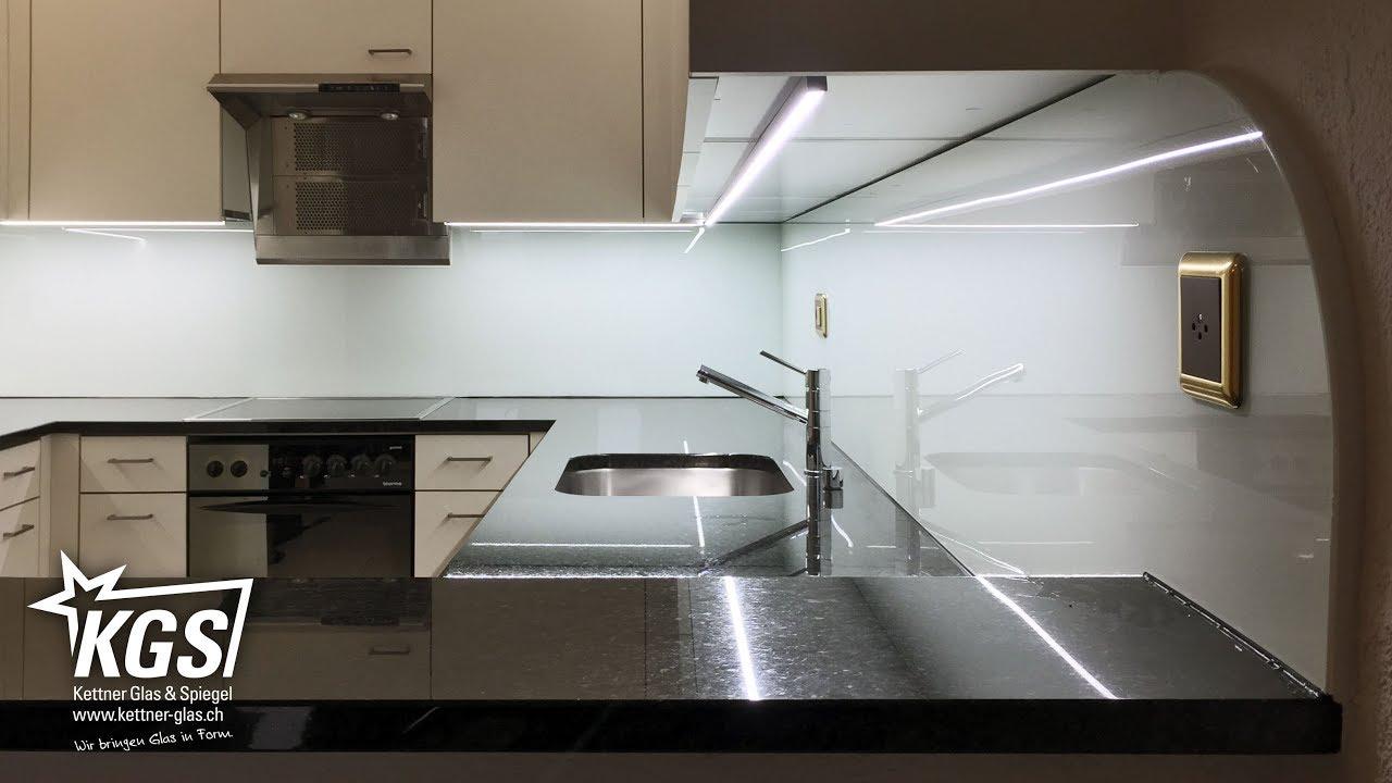 Lackiertes Glas Küchenrückwand | upowersc.com