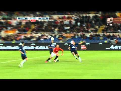 Roma - Inter 1 0 Gol di Mirko Vucinic Commento Di Carlo Zampa