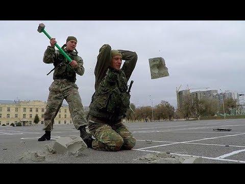 Рукопашный бой военных разведчиков: кадры выступления под Волгоградом