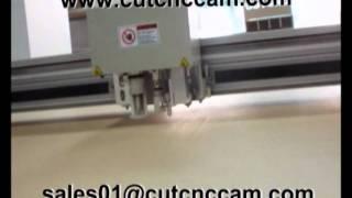 Flatbed Cardboard Sample Cutter Cutting Machine Plotter.avi