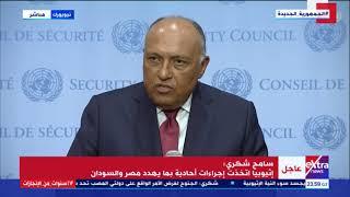 غرفة الأخبار   ماذا لو فشل مجلس الأمن؟ هكذا رد سامح شكري على سؤال صحفي حول سد النهضة