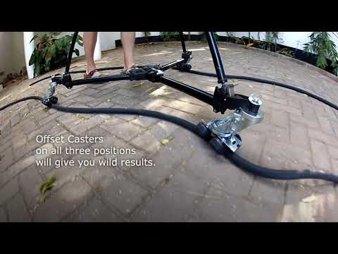 Swivel Trucks for a Camera Dolly - Variable Track Width