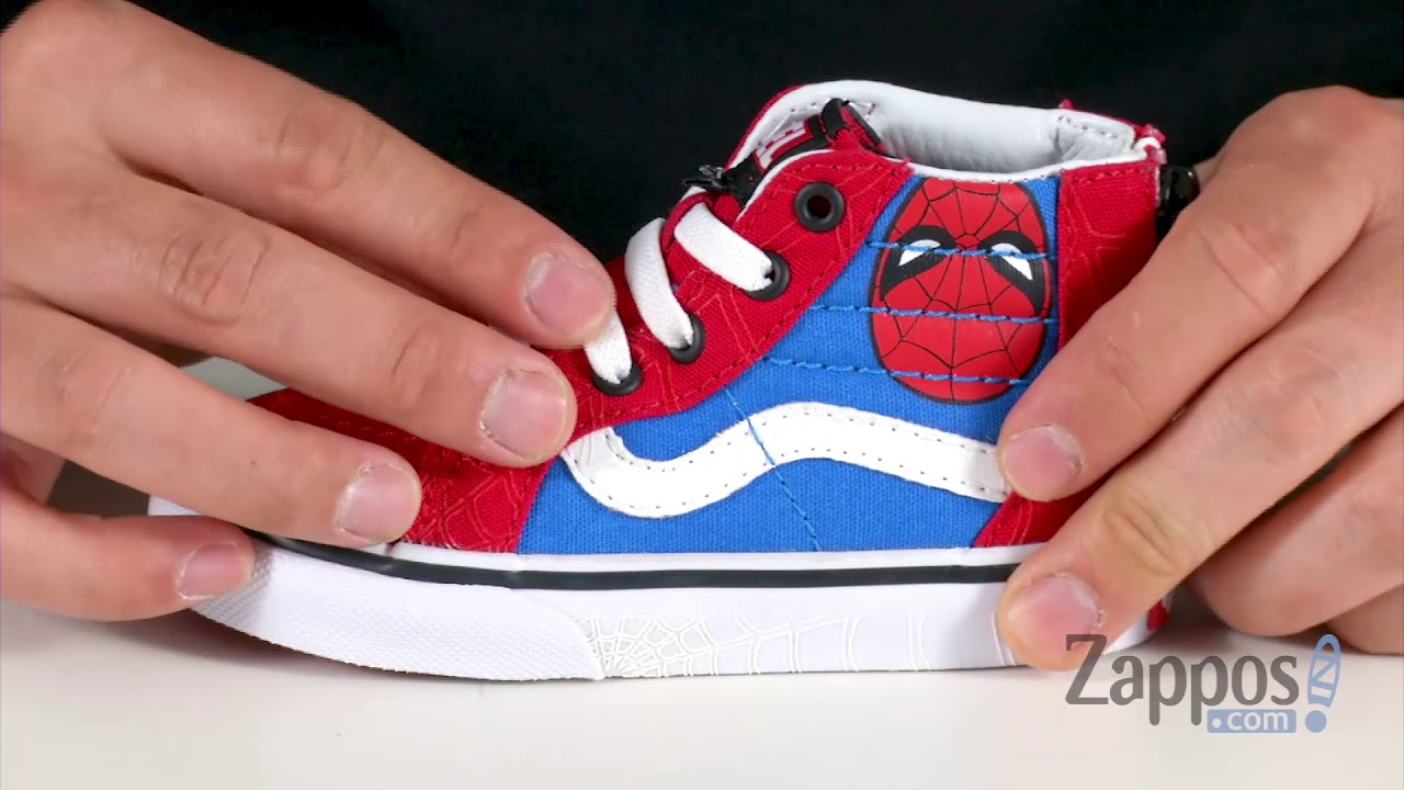 c347442f30f Vans Kids Vans X Marvel® Sk8-Hi Zip (Infant Toddler) SKU  9062777 ...