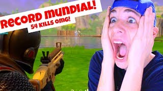 RECORD MUNDIAL! 54 MUERTES EN UNA PARTIDA! Fortnite Battle Royale