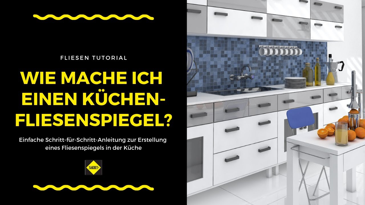 fliesen als fliesenspiegel in der k che verlegen und verfugen sakret heimwerker tv youtube. Black Bedroom Furniture Sets. Home Design Ideas
