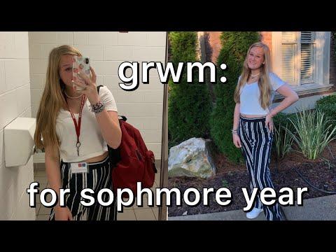 GRWM: first day of school & vlog - SOPHOMORE YEAR