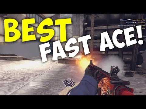 BEST FAST ACE! (CS:GO - Matchmaking Moment) Cleaning Cache!