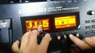 BOSS GT100 - gán hiệu ứng cho pedal