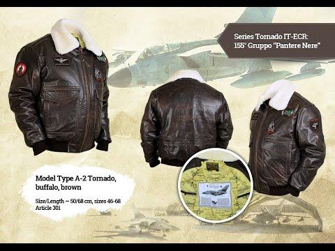 Лётная кожаная куртка A-2 Tornado Brown (Airborne Apparel)