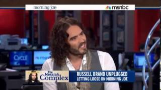 HQ Russell Brand on MSNBC Mocking Media [ with transcript]