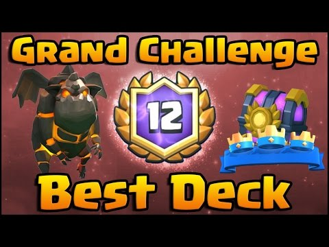 Clash Royale - LIVE 12 WINS Grand Challenge with Lava Hound Deck and Strategy!