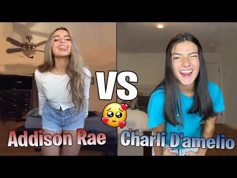 Charli D'amelio VS Addison Rae TikTok Compilation