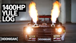 homepage tile video photo for Hooni-Yule Log! Ken Block's 1,400hp Twin Turbo AWD Ford Mustang Hoonicorn Spits Fire For 2 Hours
