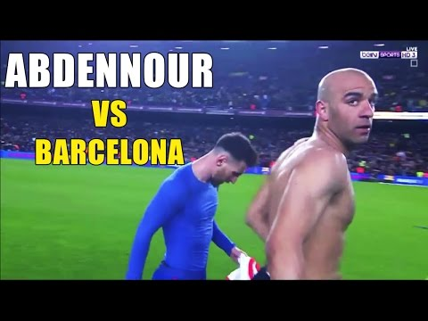 Aymen Abdennour vs Barcelona (away) 20-03-2017 - كل ما فعله