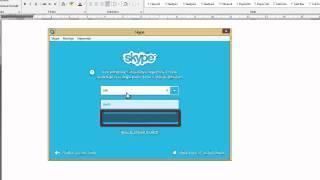 Skype - zřízení účtu a přihlášení se