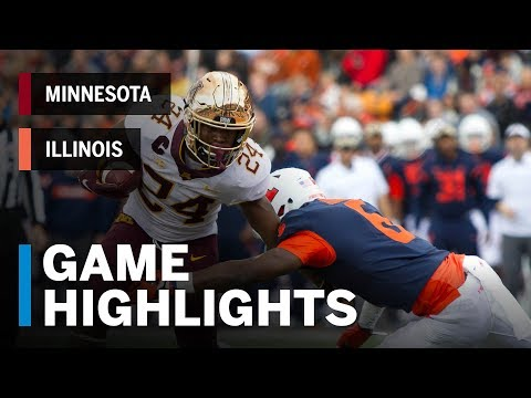 Highlights: Minnesota Golden Gophers vs. Illinois Fighting Illini | Big Ten Football