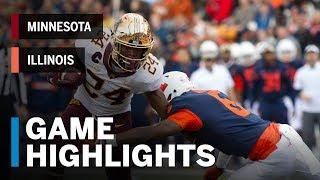 Highlights: Minnesota Golden Gophers vs. Illinois Fighting Illini | Big Ten Football