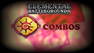 5 TYPE OF CHAOS COMBOS! | Roblox Elemental Battleground