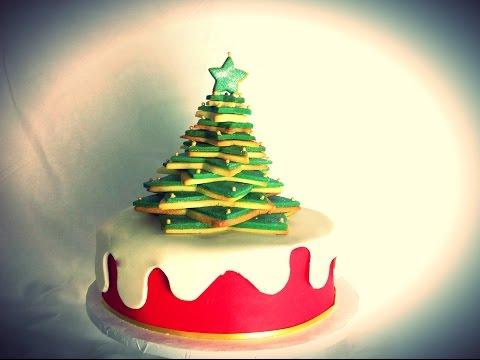 gateau-mousseline-(chiffon-cake),-et-sapin-en-biscuit-sablés