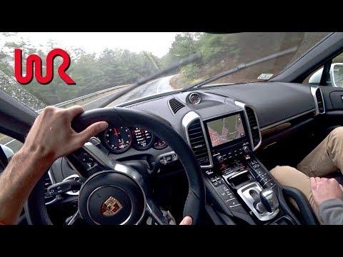 2017 Porsche Cayenne Platinum Edition Wet Conditions POV Test Drive Binaural Audio