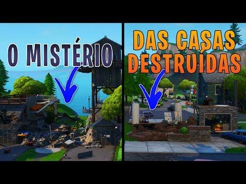 O MISTÉRIO DAS CASAS DESTRUÍDAS - O QUE SIGNIFICA?? - Fortnite Battle Royale