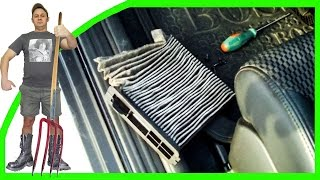 Ниссан Тиида 2009 г Замена салонного фильтра(Замена салонного фильтра на автомобиле Ниссан Тиида 2009 г.в. Replacing the cabin filter on the car Nissan Tiida 2009 year., 2014-03-30T18:35:09.000Z)