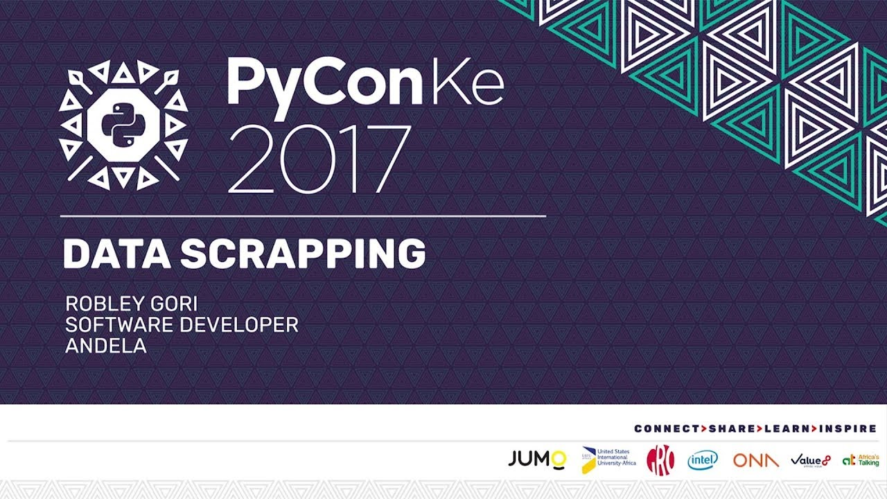 Image from PyCon-KE 17 - Data Scrapping an Analysis with Python - Robley Gori