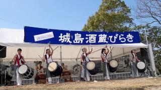 【4K】三潴高等学校和太鼓部・白獅 城島酒蔵びらき