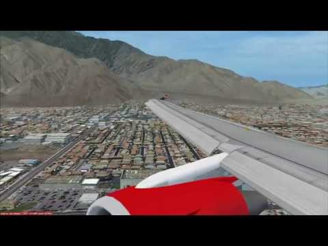 A319 Virgin America flight from San Francisco to Palm Spring