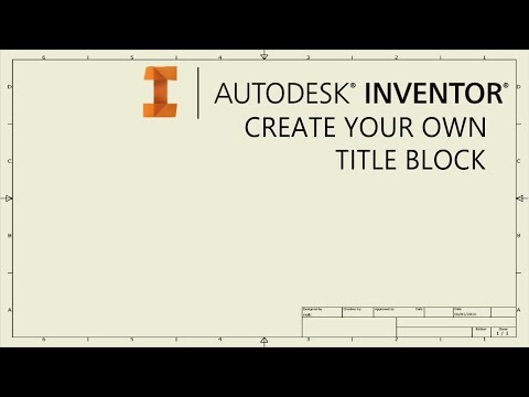 Create your own drawing title block template   Autodesk Inventor