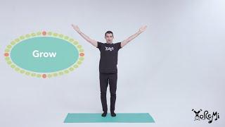 Grow (Chair Pose & Tree Pose) | Kids Yoga, Music and Mindfulness with Yo Re Mi