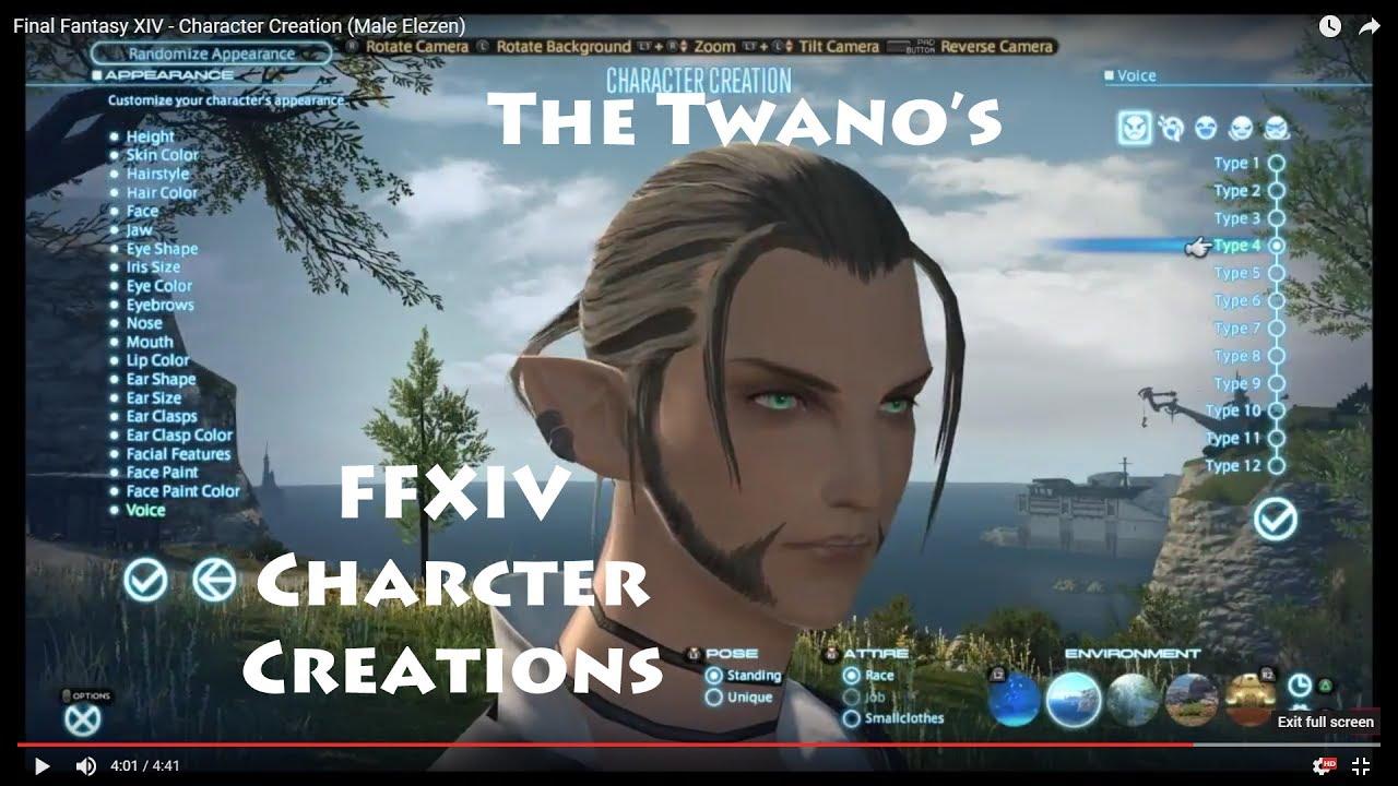 Final Fantasy XIV - Character Creation (Male Elezen)